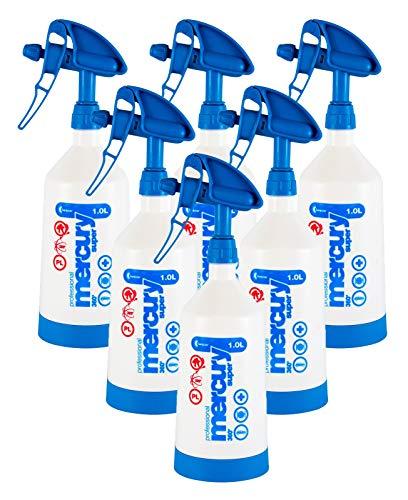 Kwazar 6X Mercury Super Pro+ 360 Grad Viton Sprühflasche Flasche blau 1 L Liter - Liter Sprühflasche