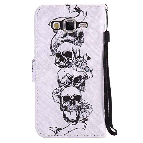 C-Super Mall-UK Apple iPhone 6 / 6s hülle, Qualität PU-Leder Brieftasche Stehen Flip hülle für Apple iPhone 6 / 6s Skulls
