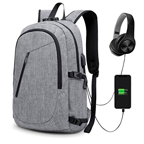 29085a189478 Anti-Theft Backpack, URMI Business Laptop Backpack with USB Charging Port  Earphone Jack with Lock Water Resistant Bag Fits 15.6 inch Computer Daypack  ...