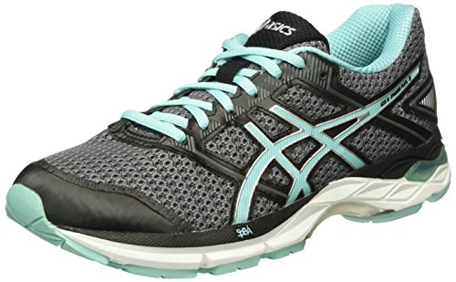 Asics Women Gel-Phoenix 8 Running Shoes, Grey (Carbon/Aruba Blue/Black), 6.5 UK 40...
