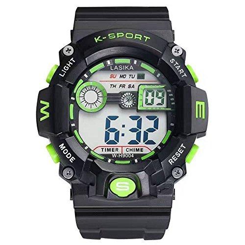Ellios Lasika Backlight Watch-EL-H-9004-Green