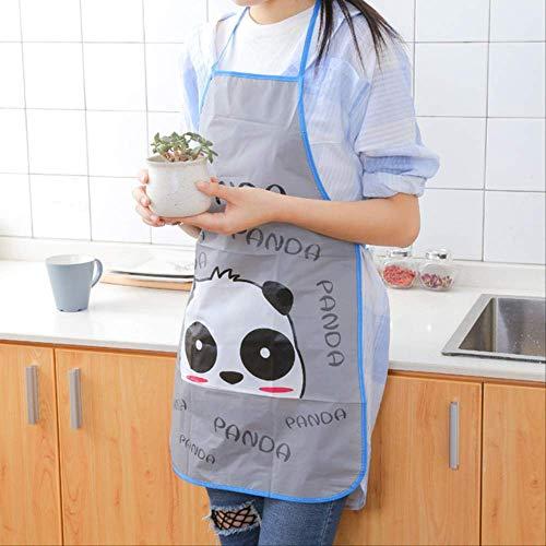 mhde Schürzen Küchen-Unisex-Schürzen Einstellbare Schwarz Gestreifte Latzschürze Mit 2 Taschen Chef Kitchen Cook Tool Für Mann FrauPanda -