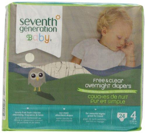 Seventh Generation B67713 septi-me g-n-ration du baby Nuit Couches Etape 4 4x24ct