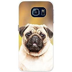 Funda con diseño carñino para teléfonos móviles, plástico, Portrait Of Pug, Samsung Galaxy S6 edge
