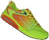 Bootsland Neon Luftpolster Turnschuhe Sneaker Sportschuhe Laufschuhe 010, Schuhgröße:43, Farbe:Orange/Gelb
