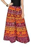 #7: Bottom Line Women's Cotton Stylish Printed Full Flair Multi-Coloured Plazo (Free Size)