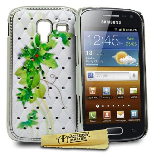 Accessory Master -Custodia per Samsung Galaxy Ace 2 i8160, con Cristalli, Colore: Rosa