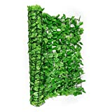 Blumfeldt Fency Bright Ivy Privacy Windscreen for Railings and Fences Fast Installation (300x100cm, Ivy Light, Simple Easy Mountig) Green