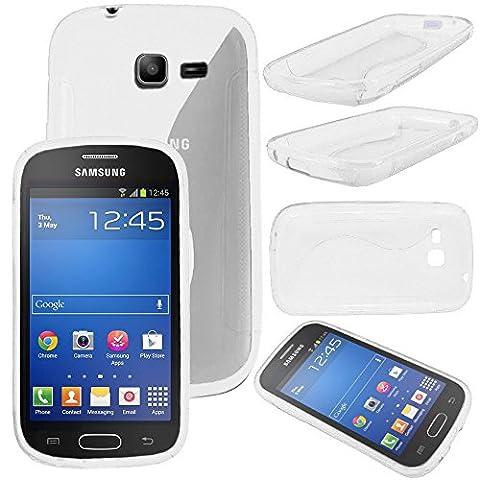 ebestStar - pour Samsung Galaxy Trend Lite S7390 S7392 - Housse Etui Coque Silicone Gel Motif S-line Souple, Couleur Transparent [Dimensions PRECISES de votre appareil : 121.5 x 63.1 x 10.9 mm, écran 4'']