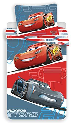 Disney Cars Grey Juego de Cama Funda de edredón Reversible Cama Individual