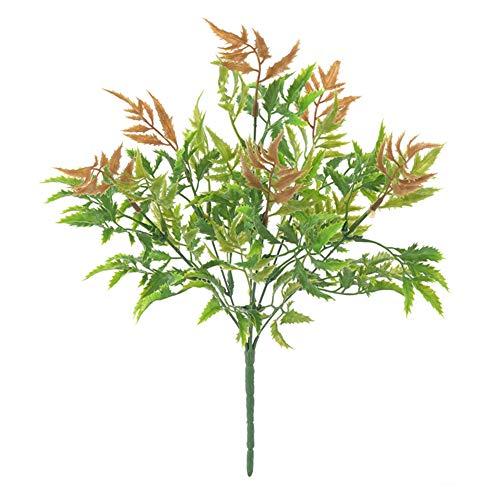 fgasad - 6 forchette di felce artificiali, con foglie finte, per decorare la casa, la cucina, il giardino, l'ufficio, il matrimonio