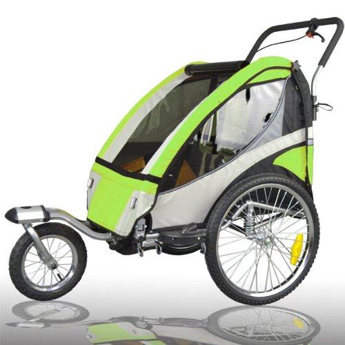 Tiggo 504S-02 - Rimorchio per bici per il trasporto di bambini con funzione Jogger, prodotto esclusivo