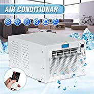 Window Air Conditioner 1500W AC Unit with Remote Control, 24-Hour Timer Cold/Heat Dual Use, Digital Display, L