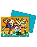 16-teiliges Einladungskarten-Set für Kindergeburtstag und Schulanfang von Lutz Mauder Verlag // bestehend 8 Einladungskarten mit 8 Umschläge // Kinder Geburtstag Party Kinderparty Kinderfest Schule