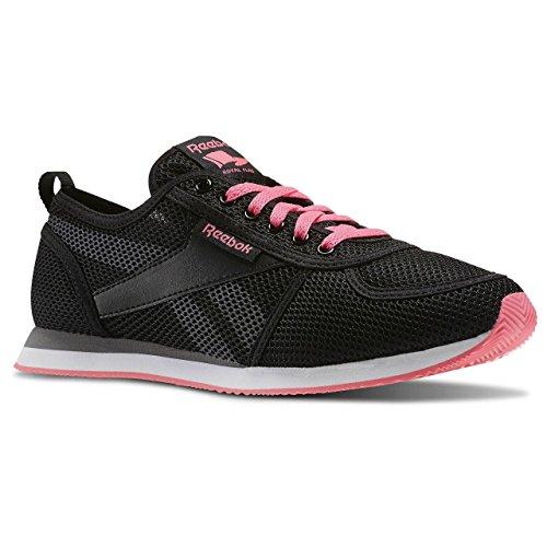 Reebok Royal CL Jog 2SE, Scarpe da Corsa Donna Multicolore (Negro / Gris / Rosa / Blanco (Black / Shark / Solar Pink / White))