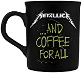 Metallica ... and coffee for all Tazza nero opaco