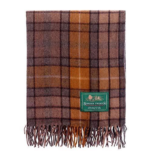 Natürliche Wolle Teppich (The Scotland Kilt Company Bordüre Tweeds Knie Reise Teppich Decke Wolle Tartan - Natürlich Buchanan)