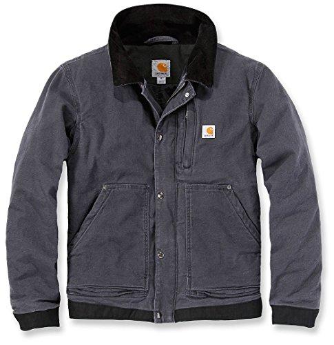 Jacke für Herren aus Stoff Modell Carhartt 102358 Sandstone Caldwell Full Swing Grau Jacket Grey Gr. M grau