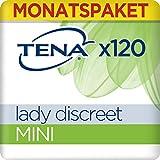 Tena Lady Discreet Mini, Monats-Paket mit 120 Einlagen (6 Packungen je 20 Einlagen) -