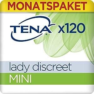 Tena Lady Discreet Mini, Monats-Paket mit 120 Einlagen (6 Packungen je 20 Einlagen)