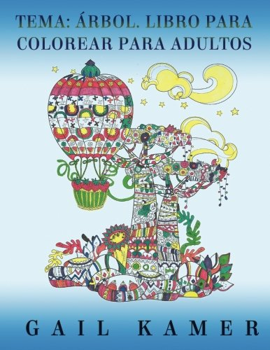 Tema: Arbol. Libro Para Colorear Para Adultos