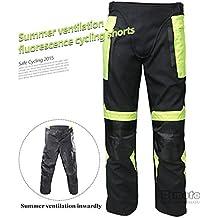 Motocicleta verano estilo Racing pantalones de equitación pantalones con Knee Protective Gear
