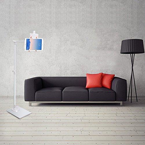 LONGKO Universal Verstellbar Bodenständer 360°Drehbar Tablet Halterung Für iPad iPhone und Smartphone (Liegende Wohnzimmer Sofa)
