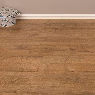2.46m2 - Heavy Domestic and Medium Contract Use Laminate Flooring - Dalby Oak 7mm - low-cost UK light shop.