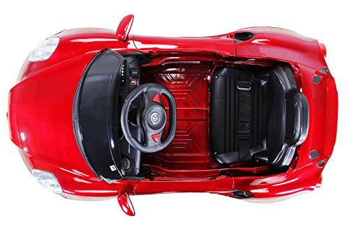 RC Auto kaufen Kinderauto Bild 6: Kinder Elektroauto ALFA Romeo 4c Lizenziert Original Kinderelektroauto Kinderfahrzeug Auto (Weinrot)*