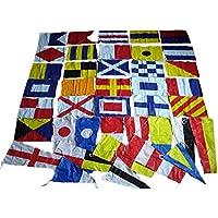 Brass Blessing Código Internacional Banderas/Bandera Diseño de Bandera–100% Algodón–Juego de Total 40Marítimo Náutico (5043)