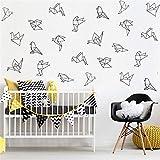 stickers muraux disney citation Origami géométrique oiseaux 9 styles 45 pcs mur...