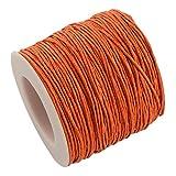 SiAura Material 1 Rolle Schnur Baumwolle Dicke 1mm, 91m, Dunkelorange
