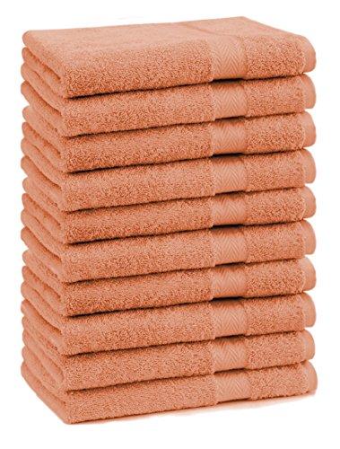 Betz Lot de 10 serviettes débarbouillettes lavettes taille 30x30 cm en 100% coton Premium