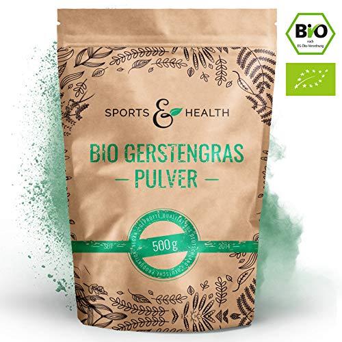 Bio Gerstengras Pulver - 10g Pro Tagesdosis (1 Messlöffel) - 500g junges Gerstengras Pulver - 100{466b8fed4f3e18a822c678439b52e9c803b899ec5728499fb9c62f2bb0ed7fa4} reines Bio Pulver - Made In German