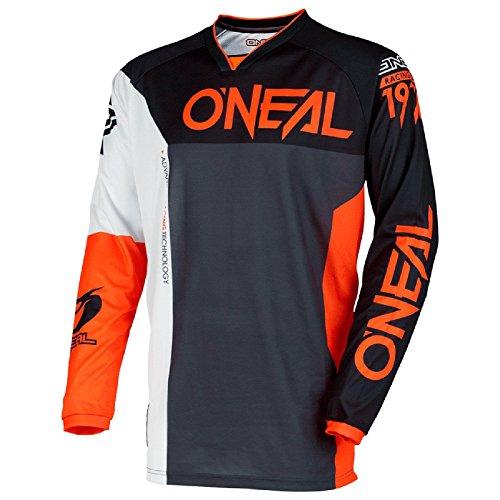 O'Neal Mayhem Lite Split Motocross Jersey Trikot MX Enduro Offroad Motorrad Quad Cross Erwachsene, 0030A, Farbe Orange, Größe M (Orange Hose Mayhem)