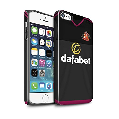 Offiziell Sunderland AFC Hülle / Glanz Harten Stoßfest Case für Apple iPhone 5/5S / Pack 24pcs Muster / SAFC Trikot Away 15/16 Kollektion Torwart