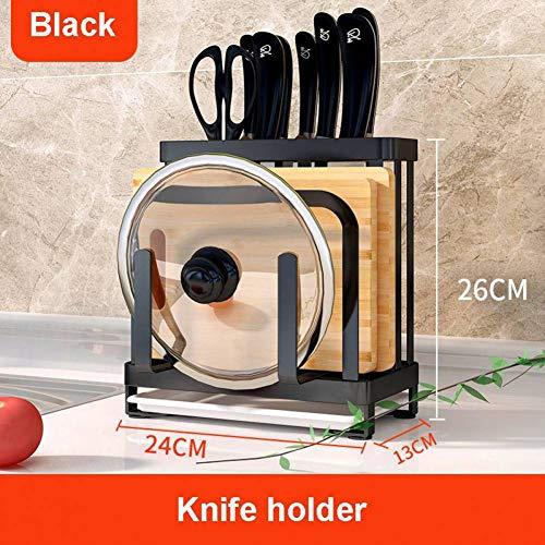 FIREYANG Geschirrregal Edelstahl Küchenmesser Rack Schneidebrett Topf Deckel Lagerung Inhaber Multifunktions Kitchen Organizer (Hängende Topf-deckel Rack)