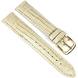 Eulit Teju-Print Replacement Band Watch Band Leather Kalf Strap Beige 533_21G, Abutting:12 mm