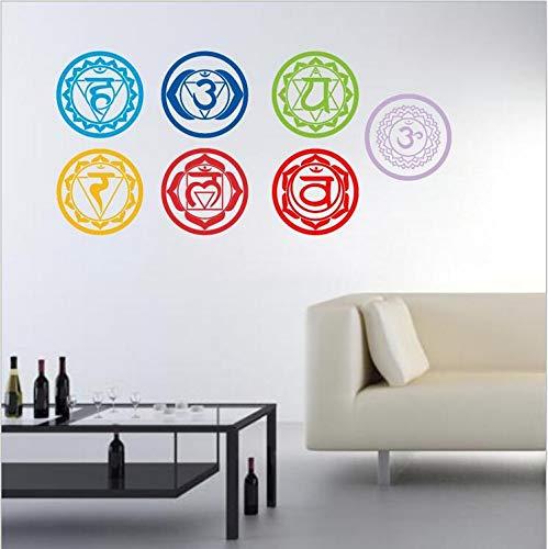 Mznm Chakren Tapete Aufkleber Mandala Yoga Om Meditation Symbol Wand Aufkleber Chakra Home Wall Decor Dekoration