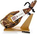Serrano Schinken Reserva Halbentbeint (Vorderschinken) + Schinkenhalter + Messer 4-4.5 Kg