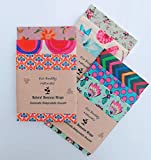 SET Of 3 Size Large 3X30cm Beeswax Food Wraps, Handmade in UK, Biodegradable, Ecological replasement to plastic