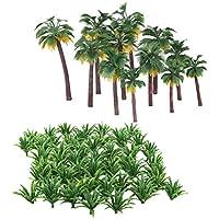 Sharplace 62 Piezas Modelo Árbol para Paisaje Landscape Modelismo Espada Hierba y Palmera
