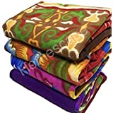 Homescape Fleece 150 TC Blanket (Full_Multicolour)