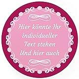 24 PERSONALISIERTE runde Etiketten, schlicht für jeden Anlass ROSA - Ihre Aufkleber online selbst gestaltet, ganz individuell