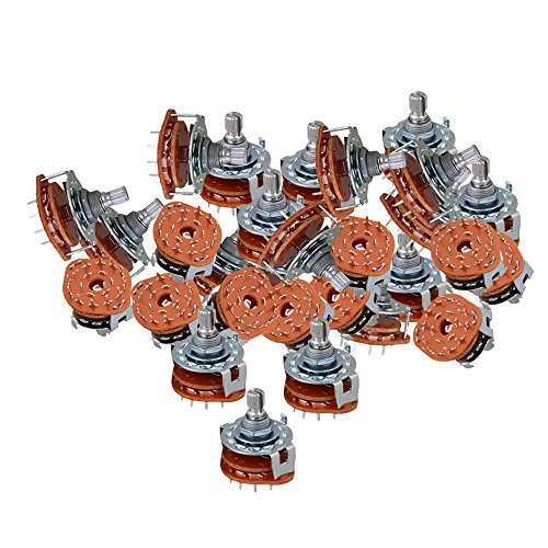 yibuy chrom 2 Pole 6 Position 6 Way Band Kanal Rotary Switch Selector M1 Set von 20 - Rotary Mixer