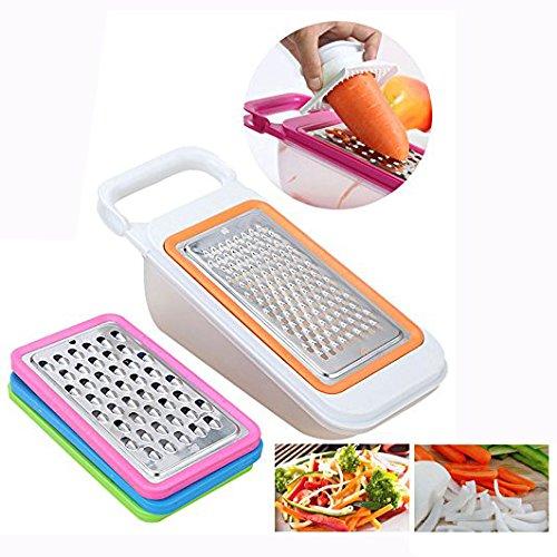Cisixin 4 Stück Gemüse-Slicer, Reibe-Set Beste für Karotten, Käse etc