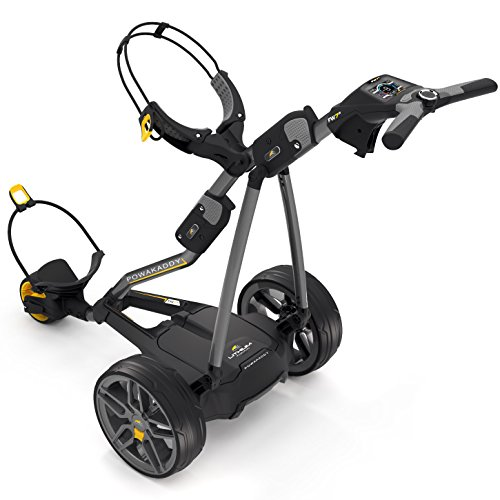 PowaKaddy 2017 FW7s Electric Golf Trolley Gunmetal (36 Hole Lithium Battery)