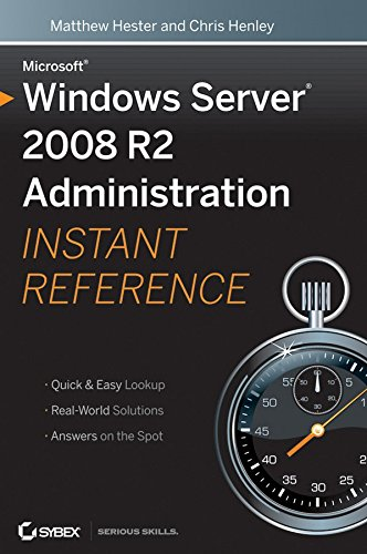 [(Microsoft Windows Server 2008 R2 Administration Instant Reference)] [By (author) Matthew Hester ] published on (February, 2010) par Matthew Hester