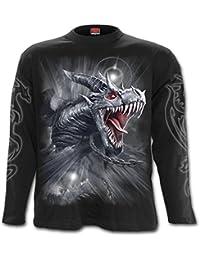 Spiral Direct - T-Shirt à manches longues - Homme noir BLACK,GREY