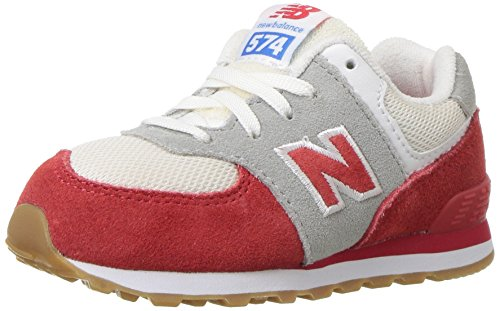 New Balance Unisex-Kinder Kl574wtg M Sneakers Rot / Weiß